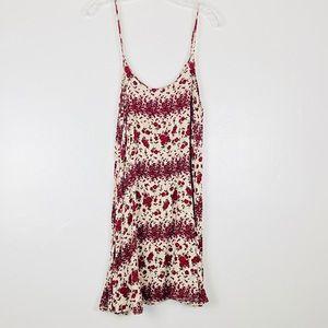 Brandy Melville Jada Dress Red Burgundy Cream Rose